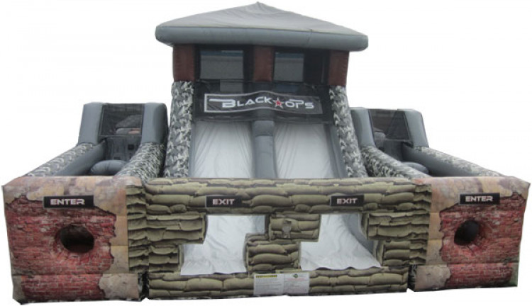 40' Black Ops Dual Lane Obstacle Course